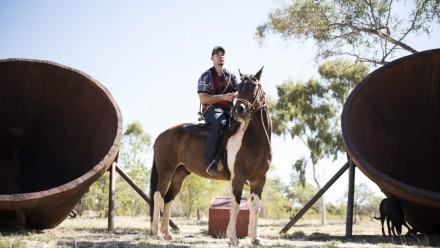 Dr Sam Gubicak on a horse