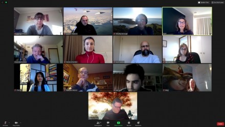 Photo of Operation Graduate team on a Zoom meeting