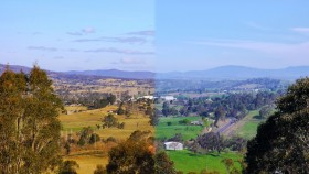 Photo of Bega Valley in summer and winter