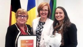 Gaye Doolan, Minister Meegan Fittzharris, Dr Danielle Dries