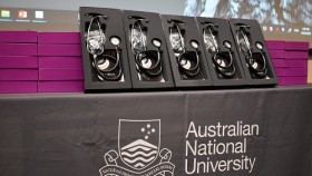 Stethescopes sitting on a table to be given to Medical Students